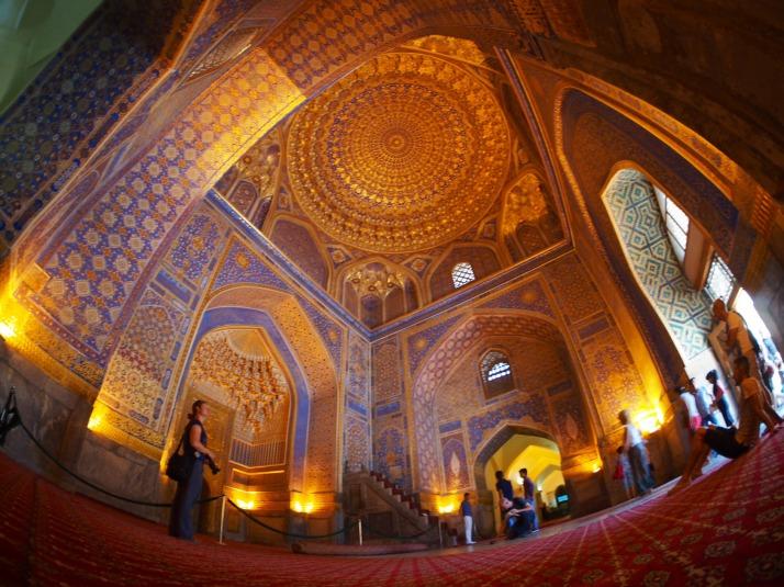 Inside Tilla-Kari Medressa Mosque