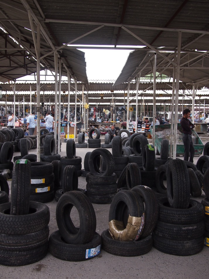 Tyres at Margilon Bazaar