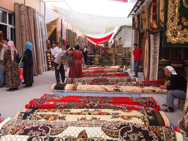 Carpets at Margilon Bazaar