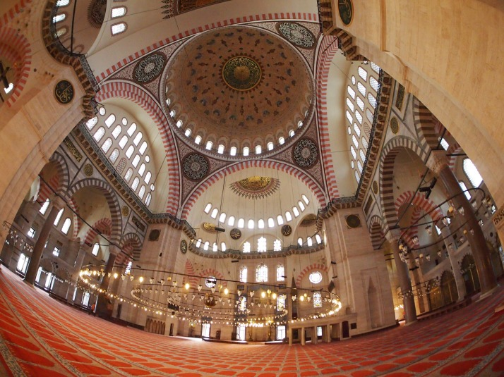 Interior of Süleymaniye Mosque