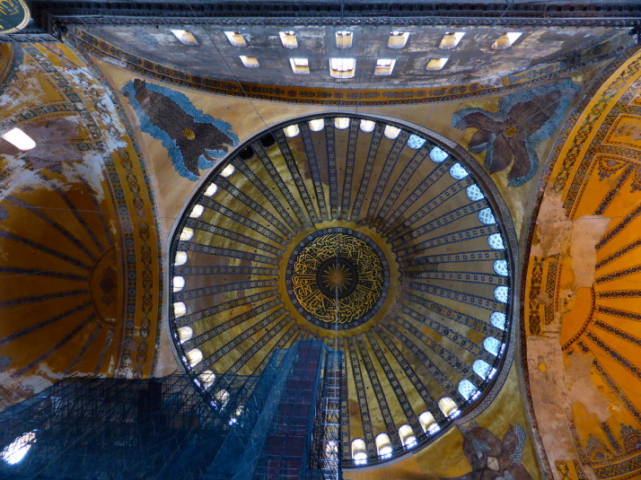 The dominating dome of Haghia Sophia