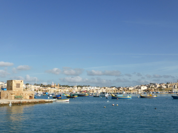 The southern fishing village of Marsaxlokk, home to Malta's Sunday market and just the kind of tranquility we were looking for