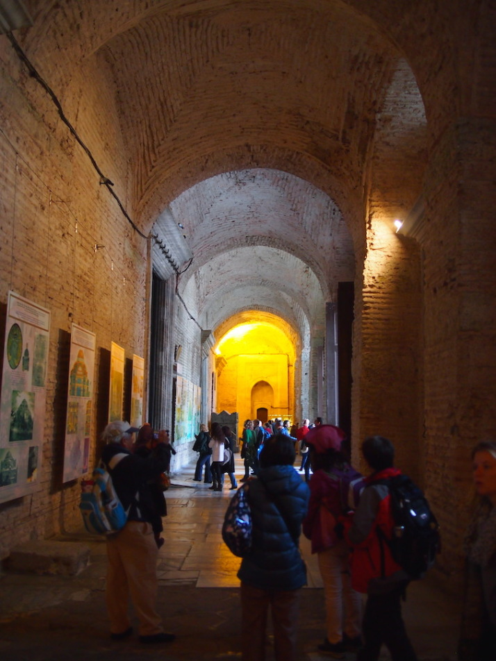 The entrance to Haghia Sophia is through one of the 5 western doors into the exonarthex. The massive central largest door on the left was known as Orea Porta or the Beautiful Gate and was reserved for the Emperor