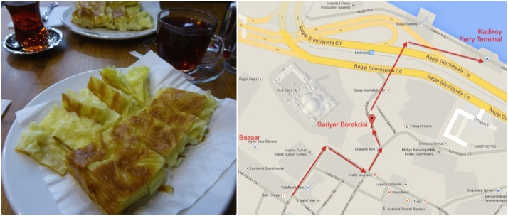 The best Istanbul breakfast - borek. Brilliant. Click for a map