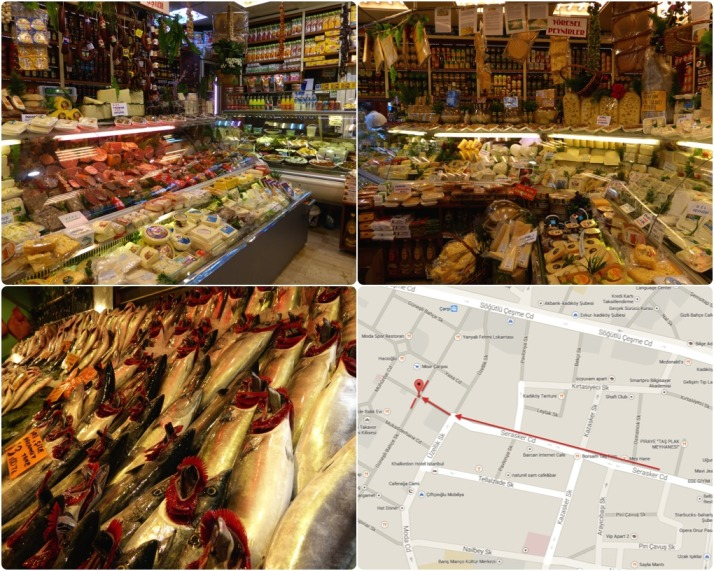 Take your time to wander through the deli counters on delicatessen street. Click for a map