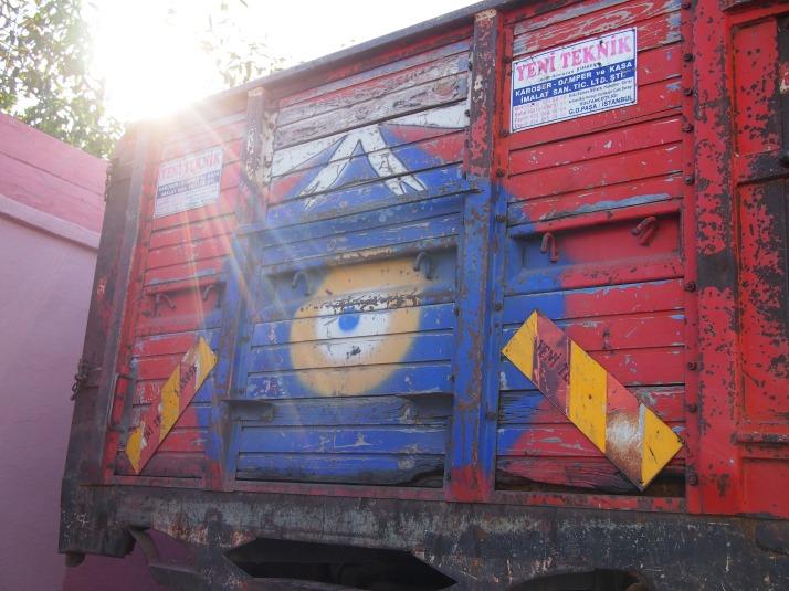 Evil eye on truck