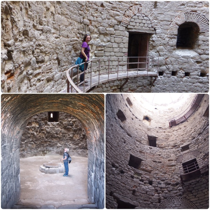 Exploring one of the towers of the Yedikule fortress