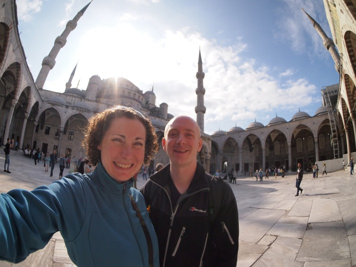 In the courtyard of the Blue Mosque
