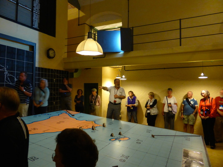 Our excellent guide Tony showing us through the Lascaris War Rooms in Valletta. Here he's explaining how the island was defended