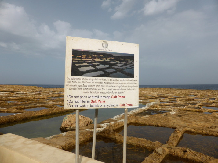 The Gozo Salt Pans, still in use after more than 2000 years