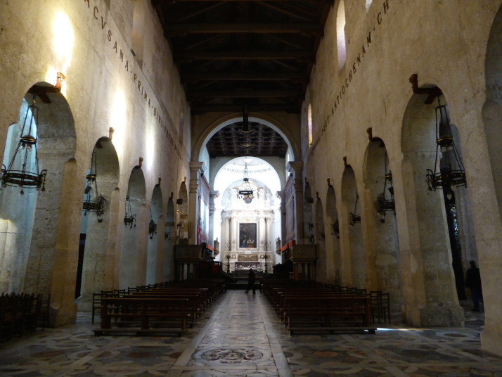 The nave of Siracusa Cathedral, Sicily