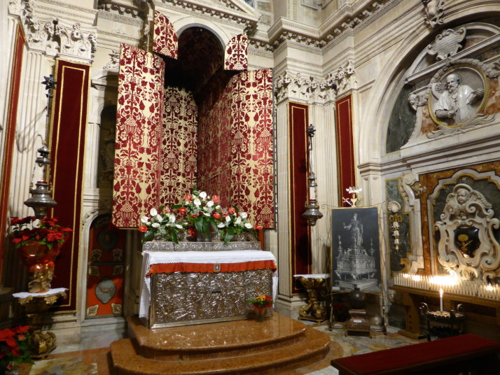 The sanctuary of Santa Lucia, Siracusa Cathedral, Sicily