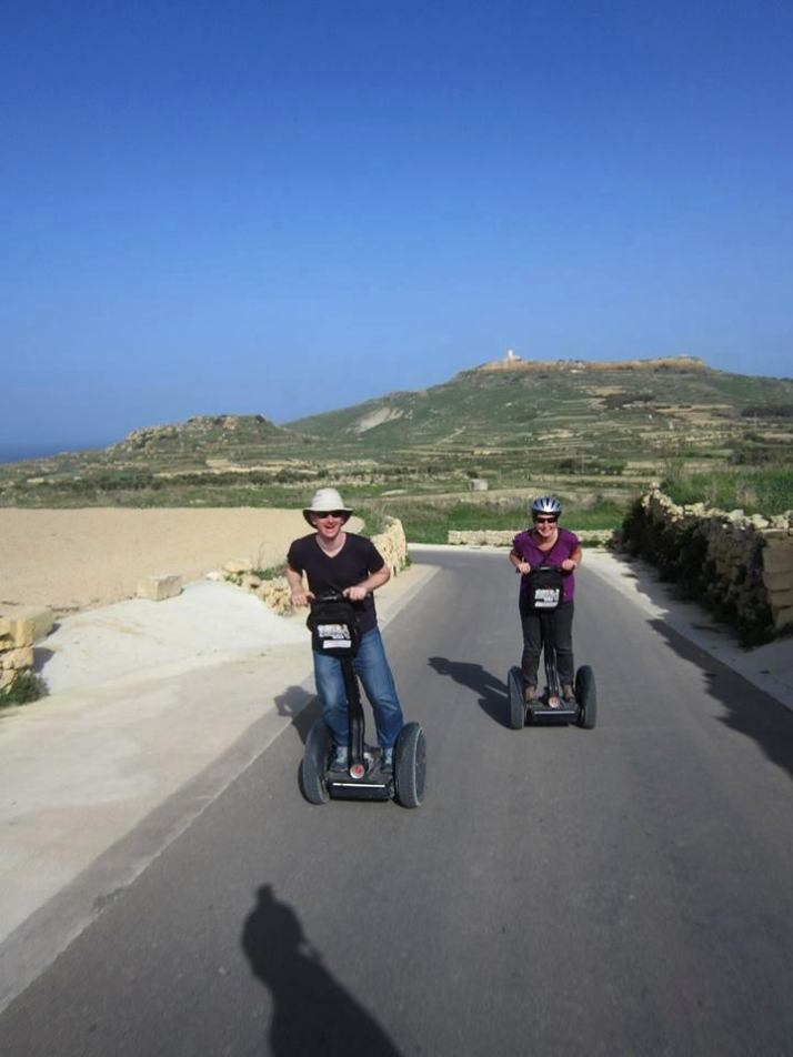 Segways - easily the most enjoyable way to climb the hills of Gozo!