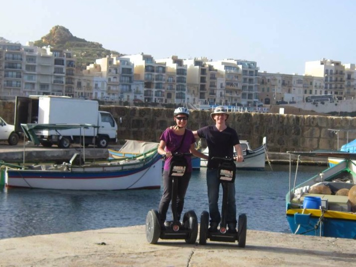 Us at the end of the Salt Pans to Ta' Pinu tour with GozoSegway
