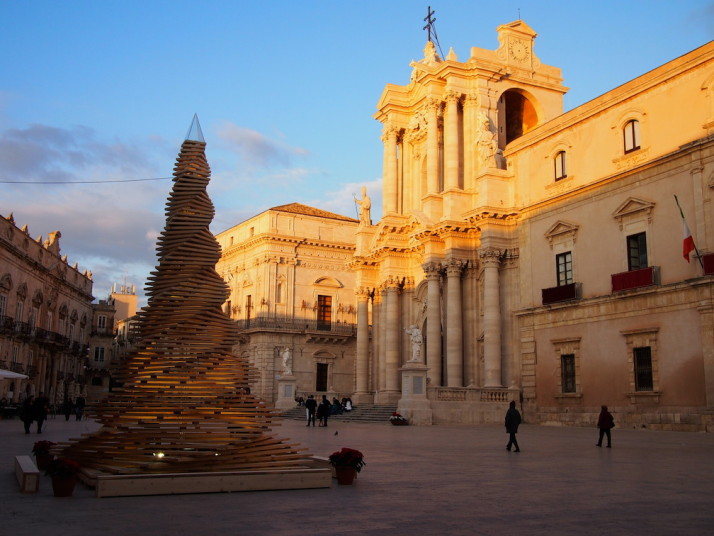 Piazza Duomo in Ortigia, Siracusa, Sicily