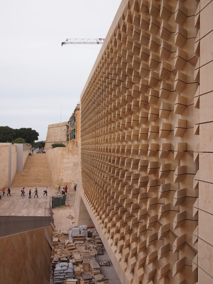 New Parliament building in Valletta