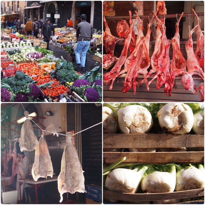 Catania markets collage