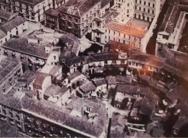 Aerial photo of Teatro Romano from 1930s