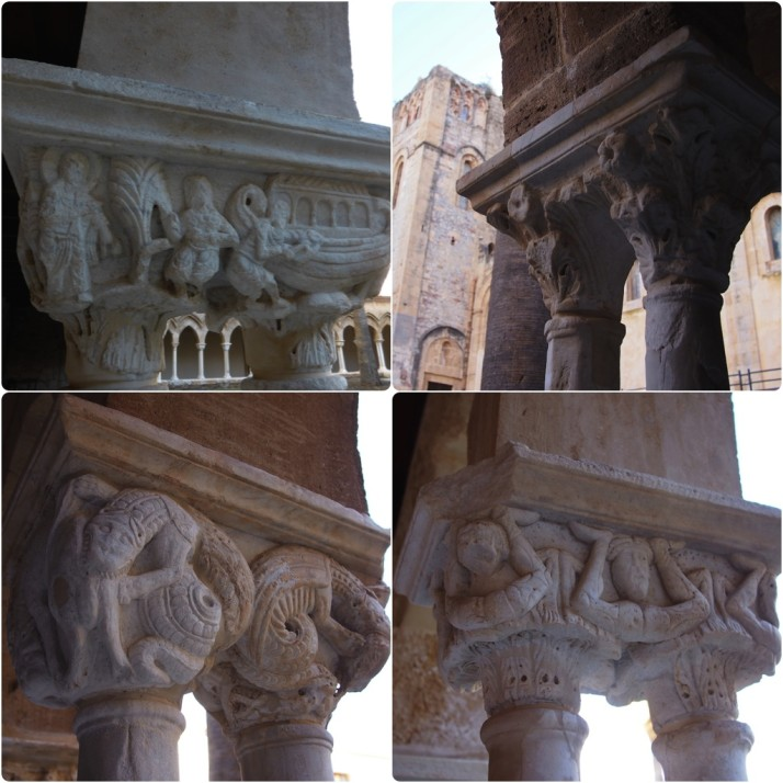 Cloister capitals, Cefalù Cathedral, Sicily