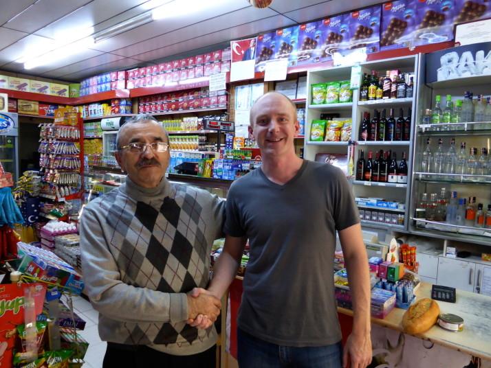 Friendly shopkeeper in Kadikoy, Istanbul, Turkey
