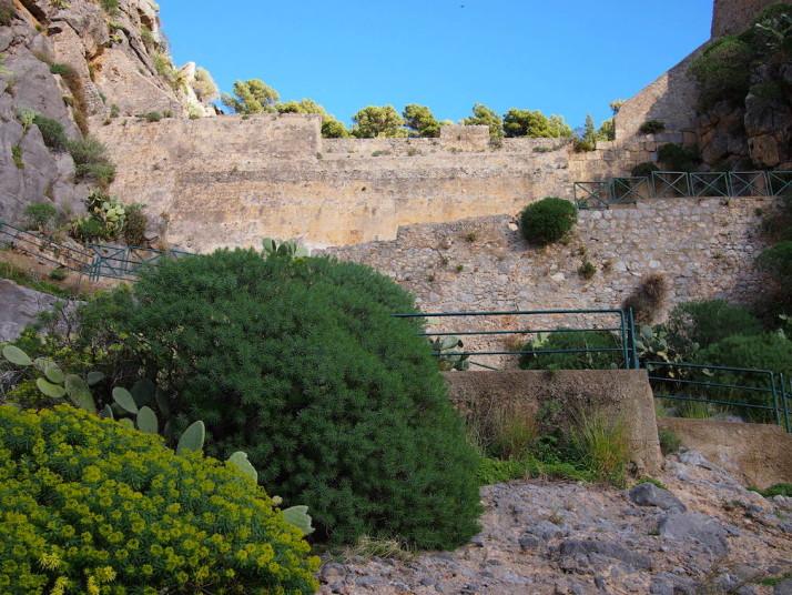 Climbing La Rocca, Cefalù, Sicily