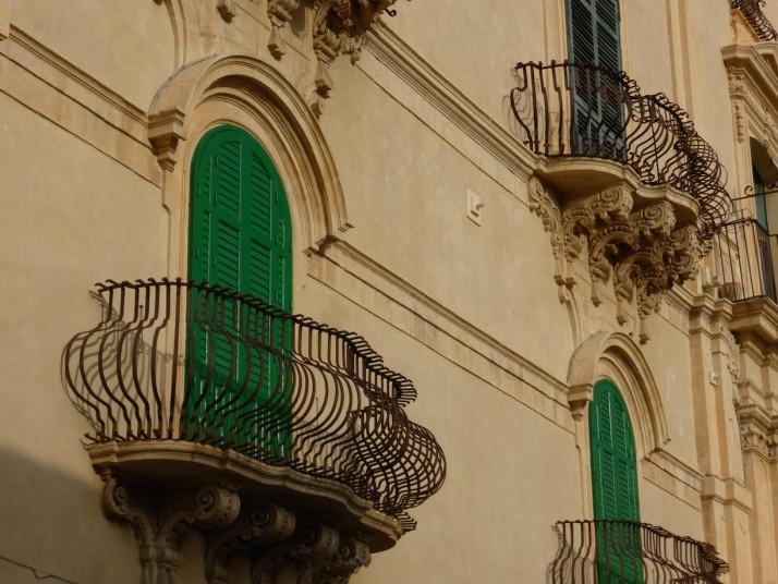 Baroque balconies, Noto, Sicily