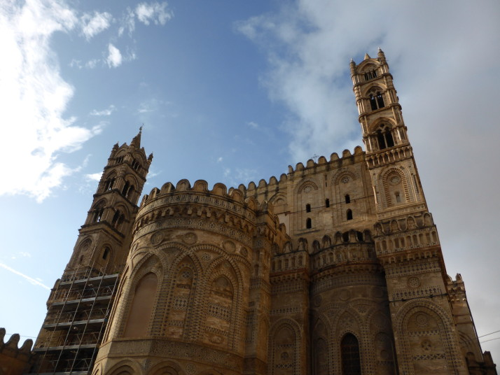 Rear of Palermo Cathedral, Sicily