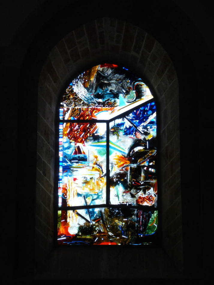 Stained glass, Cefalù Cathedral, Sicily