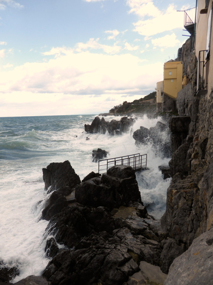 Coastal path outside the megalithic wall, Cefalù, Sicily