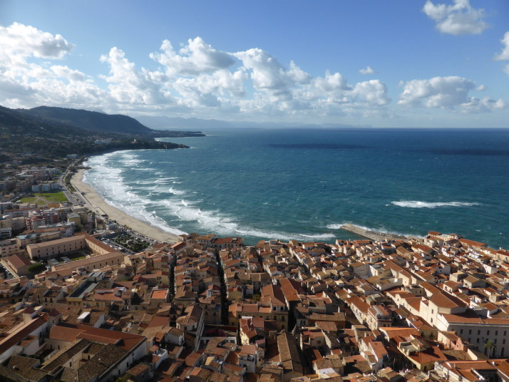 Cefalù from the top of La Rocca, Sicily