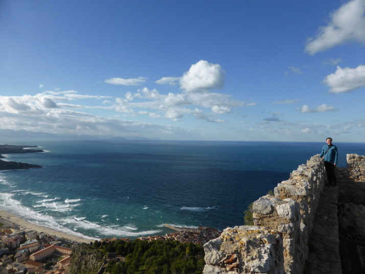 Atop the fortifications on La Rocca, Cefalù, Sicily