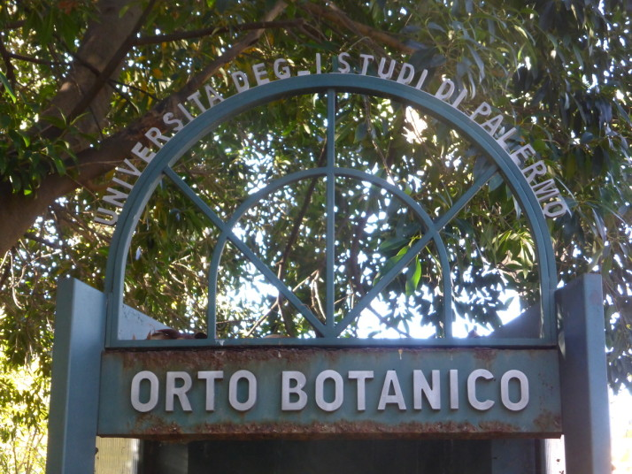 Orto Botanico sign, Palermo, Sicily