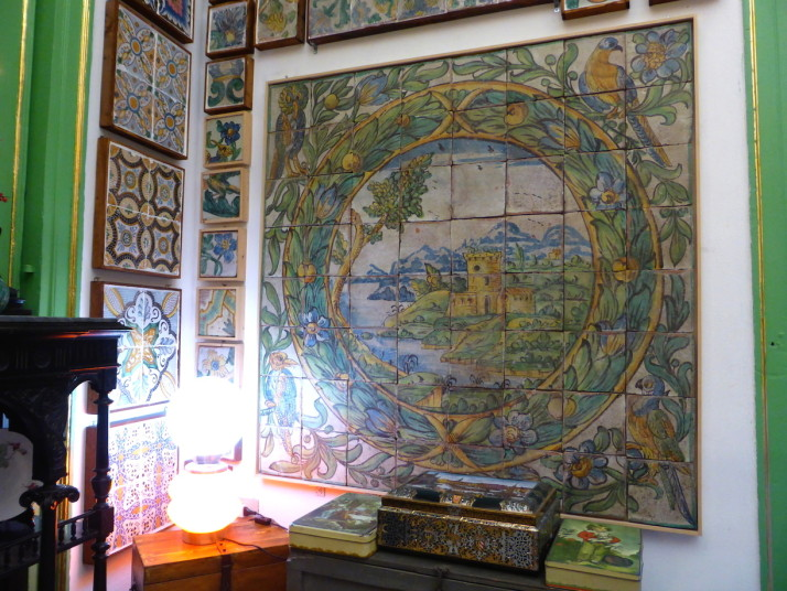 Dining room, Stanze al Genio tile museum, Palermo, Sicily