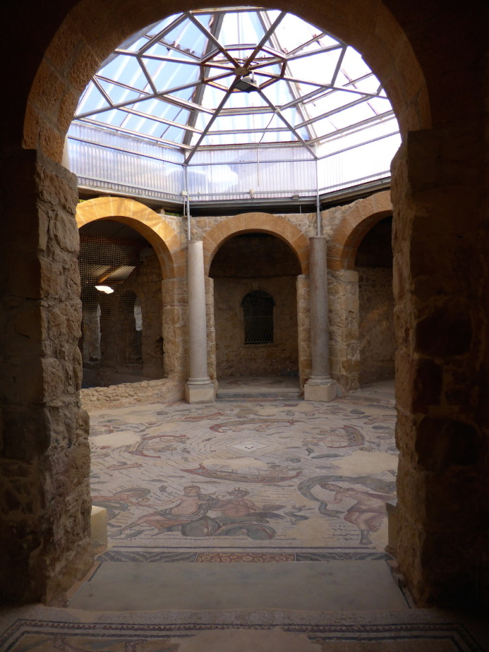 The great hall of the frigidarium, Villa Romana de Casale, Sicily