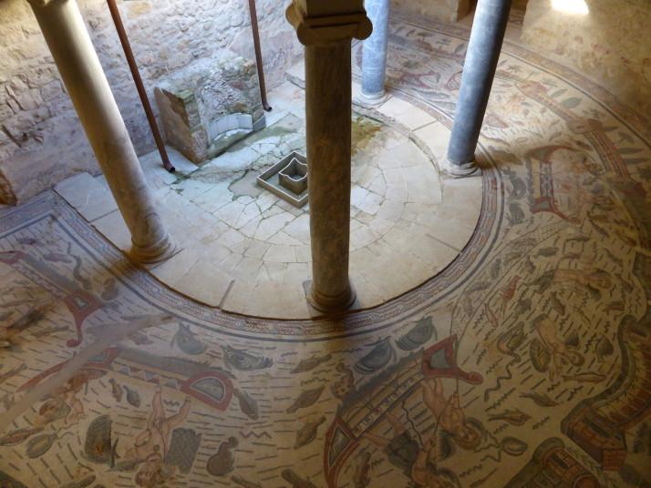 Semi-circular portico, Villa Romana de Casale, Sicily