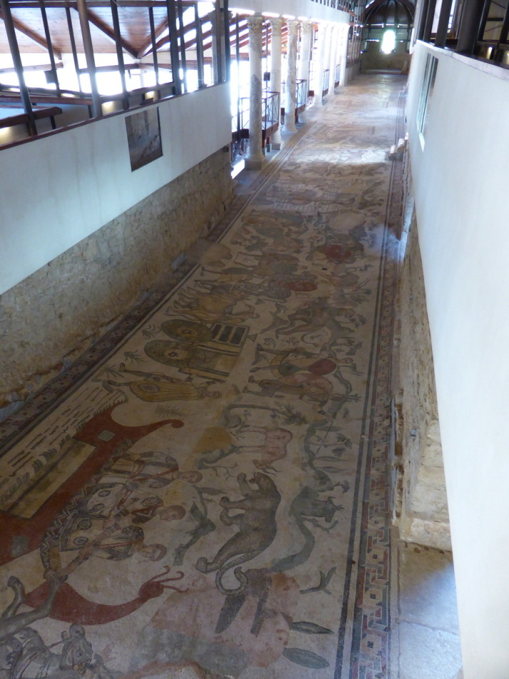 The ambulatory of the great hunt, Villa Romana de Casale, Sicily