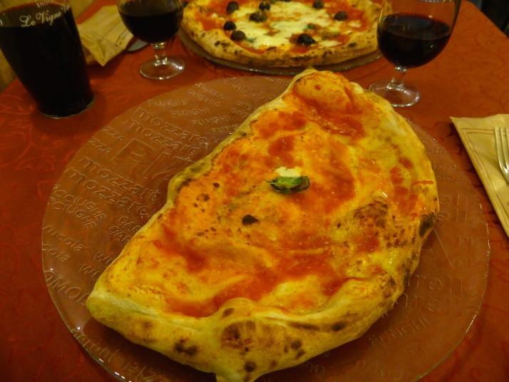 Ham and Ricotta Calzone, Starita, Naples, Italy