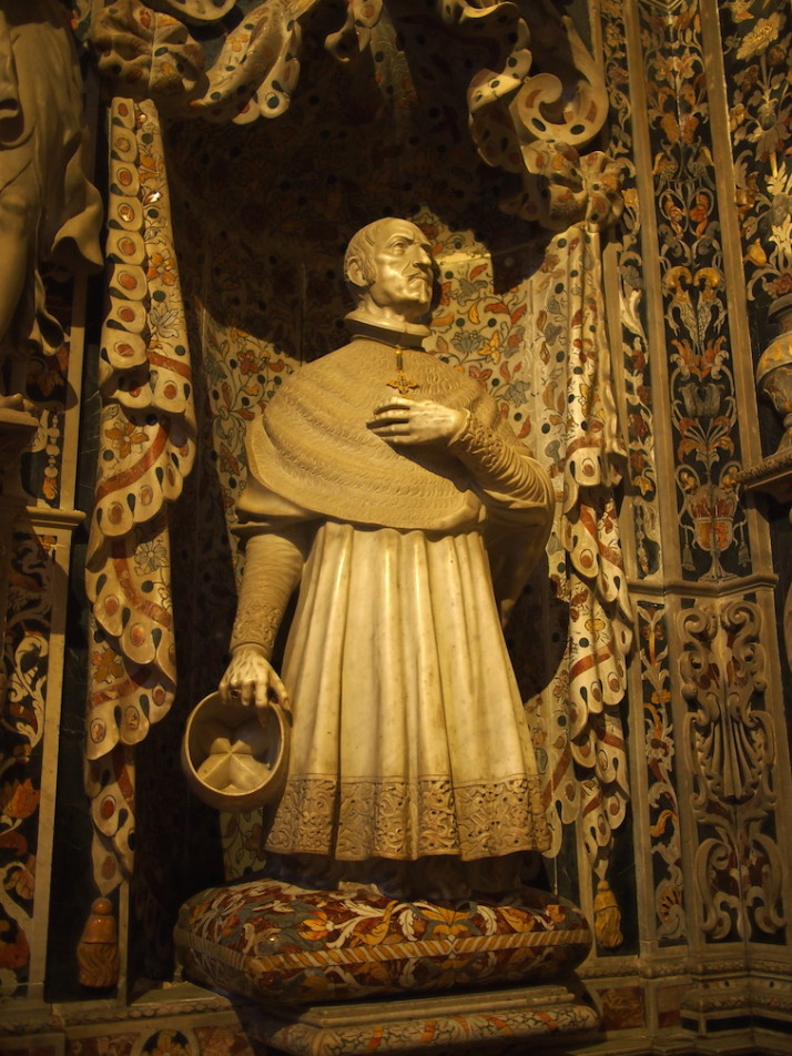 Statue of Archbishop Roan, Monreale Cathedral, Sicily