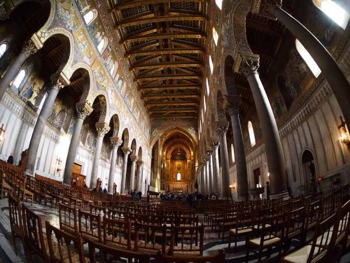Inside Monreale Cathedral, Sicily