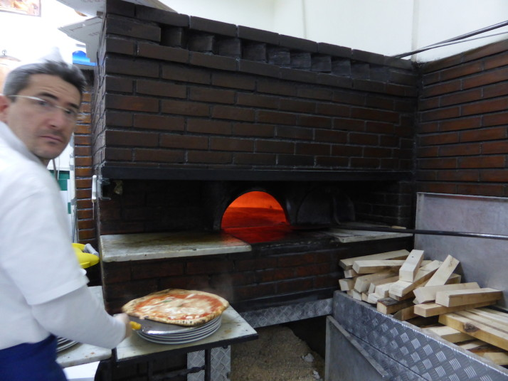 Pizza oven in L'Antica Pizzeria de Michele, Naples, Italy