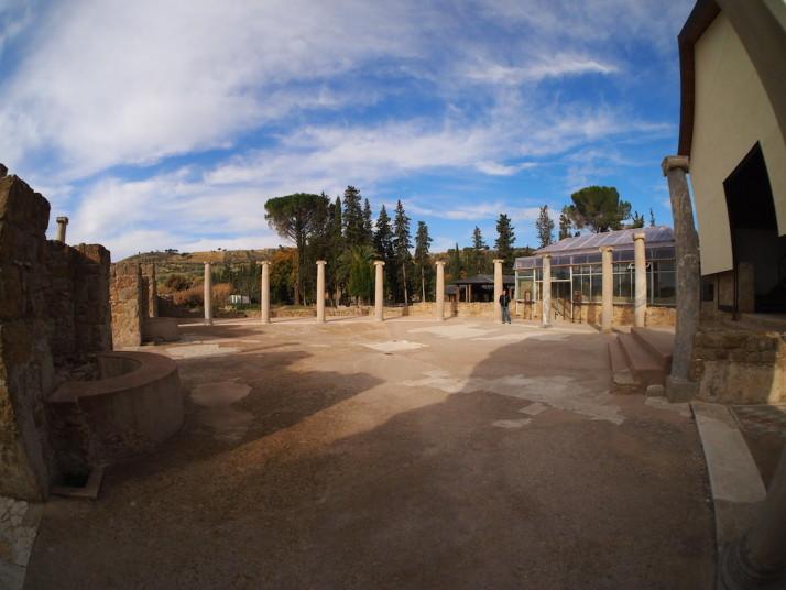 Porticoed entrance court, Villa Romana del Casale, Sicily