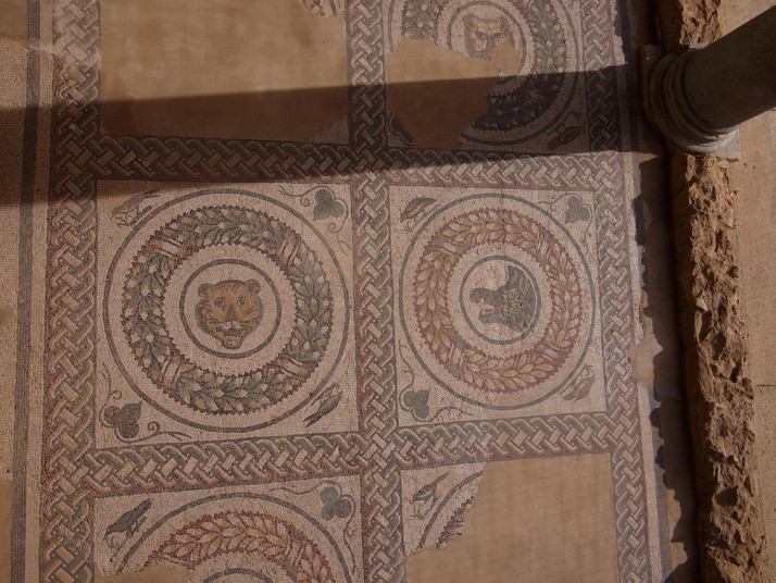 Floor of the central portico, Villa Romana de Casale, Sicily