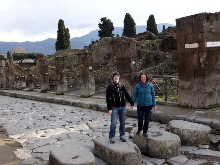 Stepping stones in Pompeii