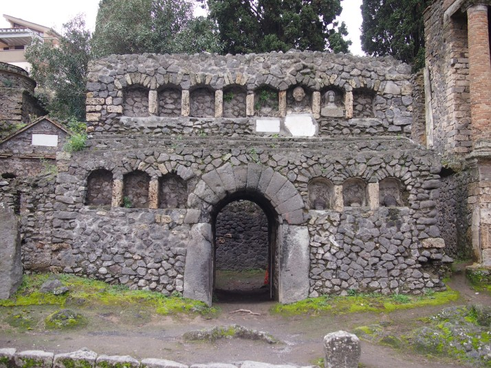 Tomb in Pompeii's cemetery