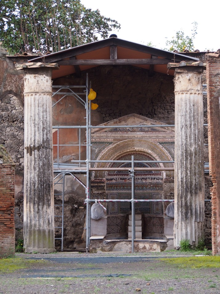 Fountain under restoration