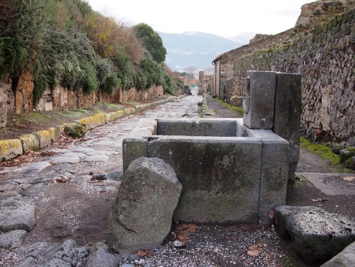 Pompeii street fountain