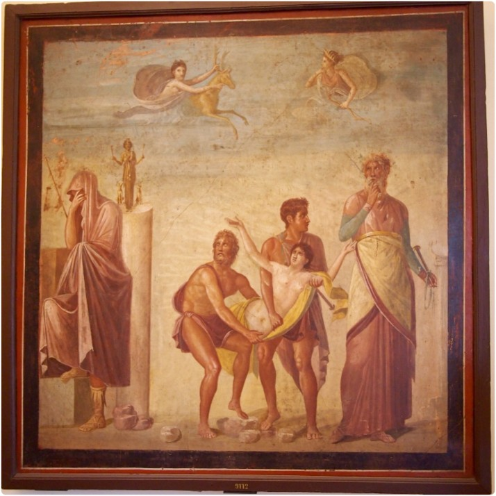 The Sacrifice of Iphigenia fresco