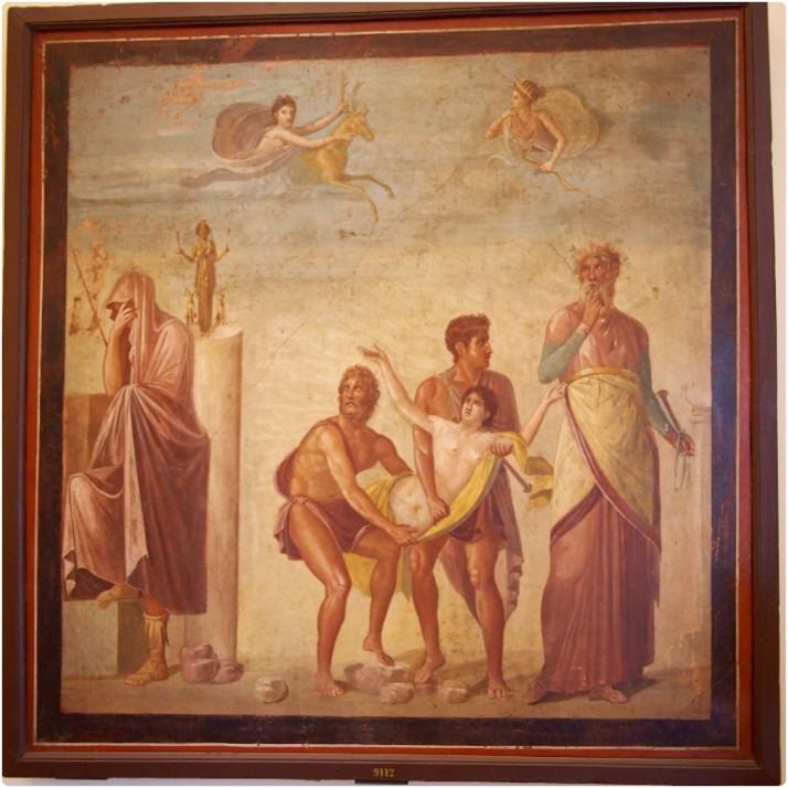 The Sacrifice of Iphigenia fresco