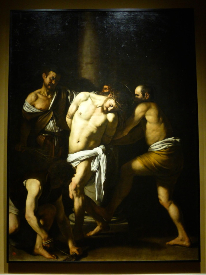 The Flagellation of Christ by Caravaggio, 1607, Museo Nazionale di Capodimonte, Naples, Italy