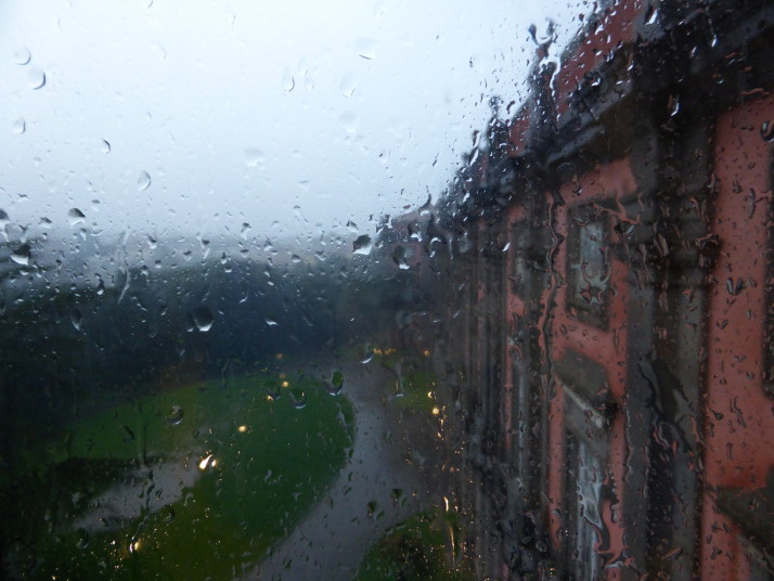 Rainy day at the Museo Nazionale di Capodimonte, Naples, Italy